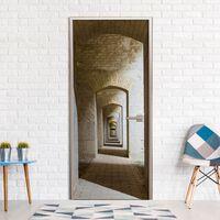 Dörrtapet - Mysterious Corridor - 90x210 Cm