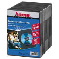 HAMA DVD-Box Slim Svart 25-pack