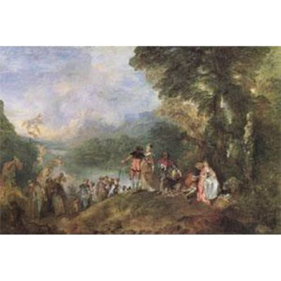The Embarkation for Cythera,Jean-Antoine Watteau,60x40cm
