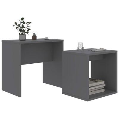 vidaXL Soffbord set grå 48x30x45 cm spånskiva , Grey