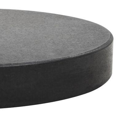 vidaXL Parasollfot granit rund 20 kg svart