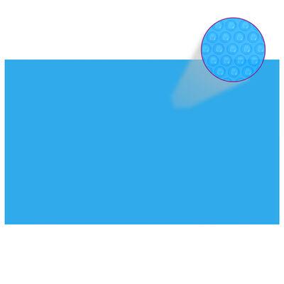 vidaXL Rektangulärt poolskydd 500x300 cm PE blå, Blue