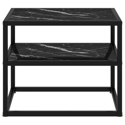 vidaXL Konsolbord svart 50x40x40 cm härdat glas
