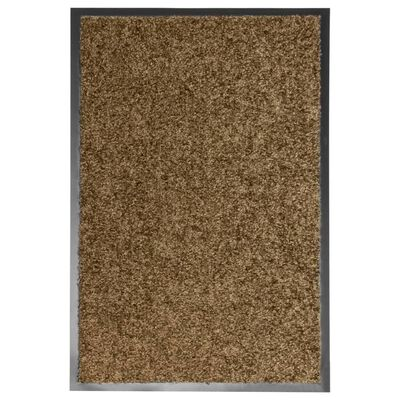 vidaXL Dörrmatta tvättbar brun 40x60 cm
