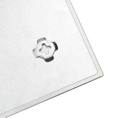 vidaXL Magnetisk glastavla väggmonterad 80x60 cm