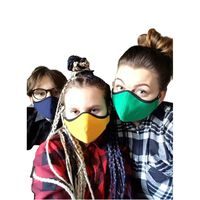 Tvättbar tyg munskydd, barn och vuxna, ansiktsmask-L,Gul