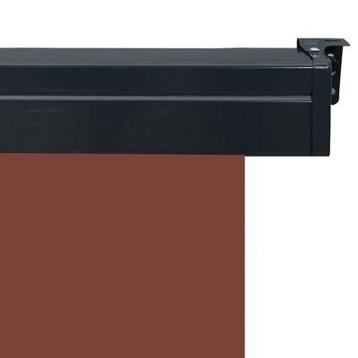 vidaXL Balkongmarkis 140x250 cm brun