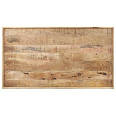 vidaXL Soffbord 110x60x42 cm grovt mangoträ