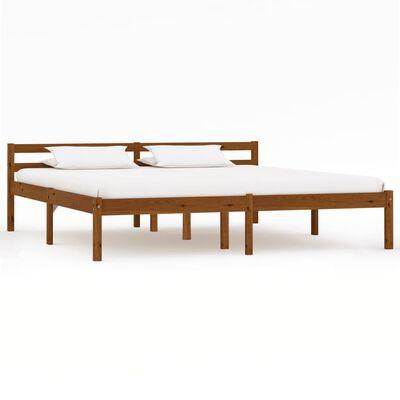vidaXL Sängram honungsbrun massiv furu 160x200 cm