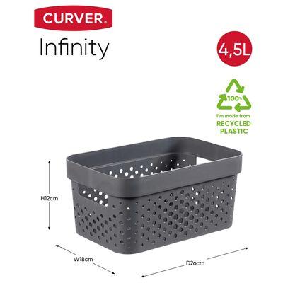 Curver Infinity Förvaringslådor 4 st med lock 4,5L+11L antracit