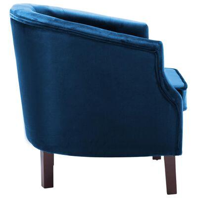 vidaXL Fåtölj blå sammet