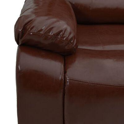 vidaXL Justerbar 2-sitssoffa brun konstläder