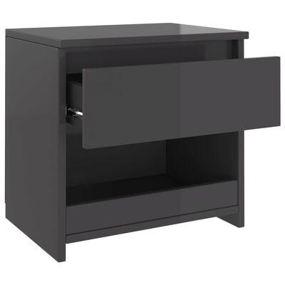 vidaXL Nattduksbord 2 st grå högglans 40x30x39 cm spånskiva