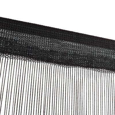 vidaXL Trådgardiner 2 st 140x250 cm svart