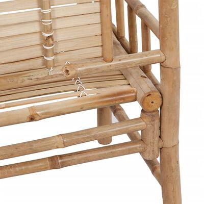 vidaXL Trädgårdsbänk 120 cm bambu