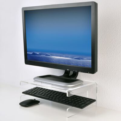 DESQ Monitorställ akryl transparent 30,5 x 23 x 12 cm