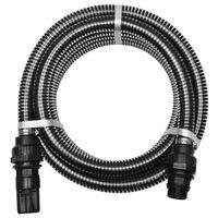vidaXL Sugslang med koppling 7 m 22 mm svart