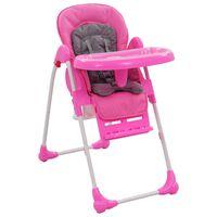 vidaXL Barnstol rosa och grå