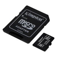 Kingston Micro SD 32 GB Minneskort Class 10 -+ Adapter Canvas