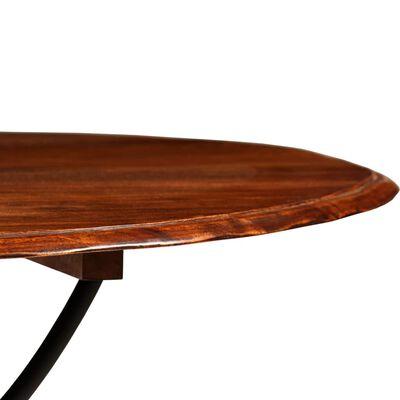 vidaXL Matbord massivt trä med shesham-ytbehandling 120x76 cm