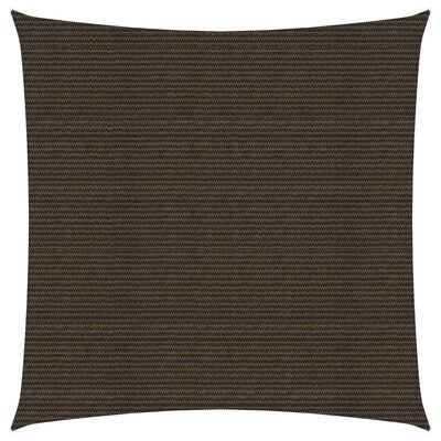 vidaXL Solsegel 160 g/m² brun 3,6x3,6 m HDPE