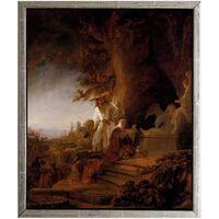 Med ram Christ appearing,REMBRANDT Harmenszoon van Rijn,60x50cm