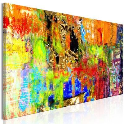 Tavla - Colourful Abstraction (1 Part) Narrow - 120x40 Cm