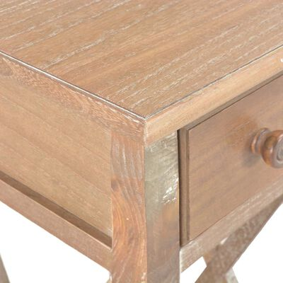 vidaXL Sidobord brun 27x27x65,5 cm trä