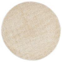 vidaXL Shaggy-matta 120 cm beige