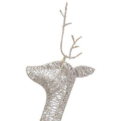 vidaXL Juldekoration renar 270x7x90 cm guld varmvit