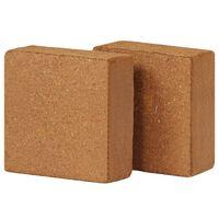 vidaXL Block i kokosfiber 2 st 5 kg 30x30x10 cm
