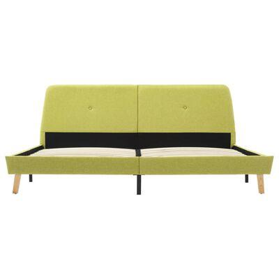 vidaXL Sängram grön tyg 160x200 cm