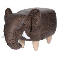 Home&Styling Pall 64x35 cm elefant