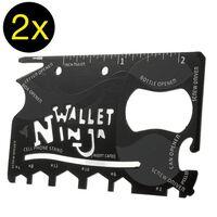 2 pack - 18 i 1 multiverktyg i Kreditkortsformat - Ninja wallet