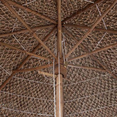 vidaXL Bambuparasoll med bananbladstak 210 cm