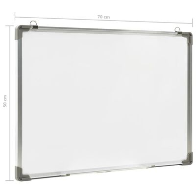 vidaXL Magnetisk whiteboard vit 70x50 cm stål