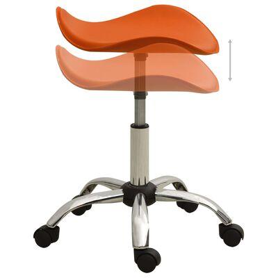 vidaXL Salongsstol orange konstläder