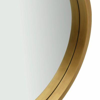vidaXL Väggspegel med rem 50 cm guld