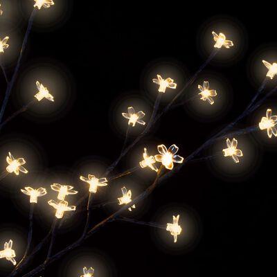 vidaXL Plastgran 1200 LED körsbärsblommor varmvitt ljus 400 cm