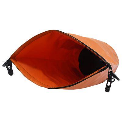 vidaXL Vattentät packpåse med dragkedja orange 15 L PVC