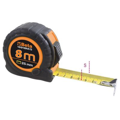 Beta Tools Måttband 1691BM/8 stål 8 m