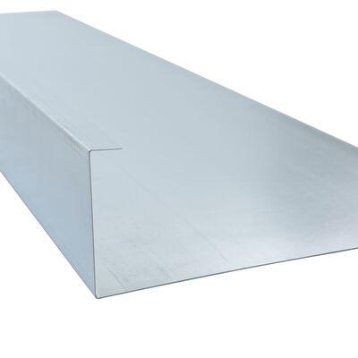 vidaXL Snigelkant galvaniserat stål 444x25 cm