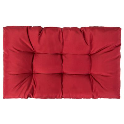 vidaXL Dynor till pallsoffa 2 st röd polyester