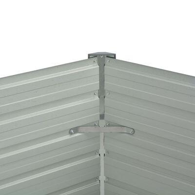 vidaXL Odlingslåda upphöjd galvaniserat stål 129x129x77 cm grön