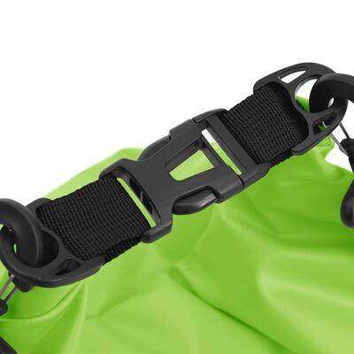 vidaXL Vattentät packpåse med dragkedja grön 30 L PVC