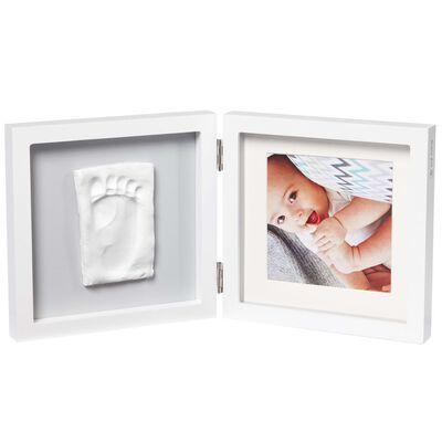Baby Art Enkelram för foto och avtryck My Baby Style vit och grå