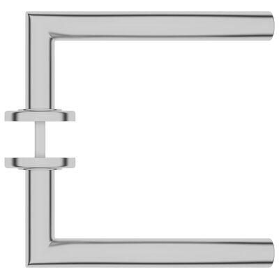 vidaXL Dörrhandtag med PZ-cylinderprofil välvt rostfritt stål