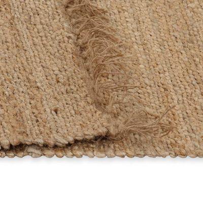vidaXL Matta handvävd jute 120x180 cm beige
