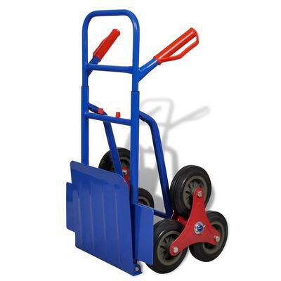 vidaXL Hopfällbar säckkärra med 6 hjul blå