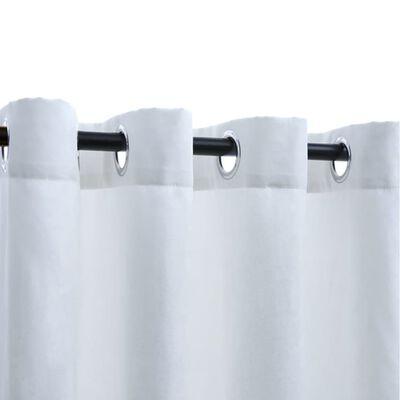 vidaXL Mörkläggningsgardiner med metallringar 2 st gråvit 140x225 cm